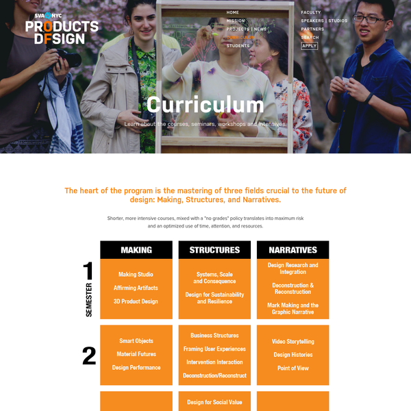 Curriculum Learn about the courses, seminars, workshops and intensives.