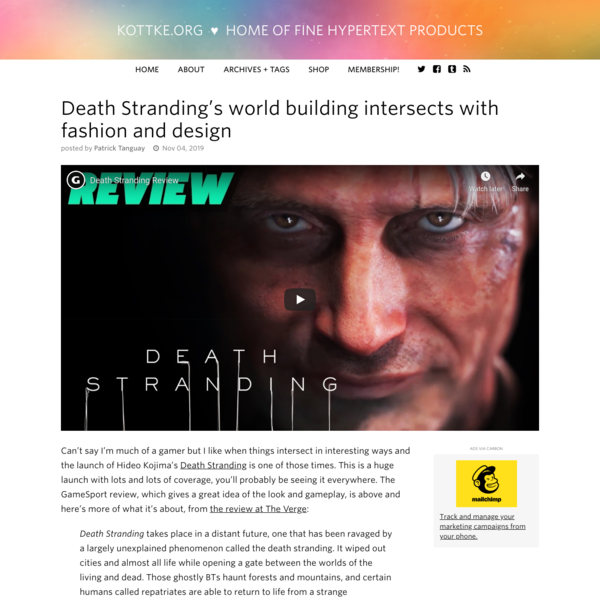 Death Stranding's world building intersects with fashion and design