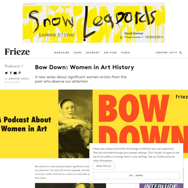 Bow Down: Women in Art History | Frieze