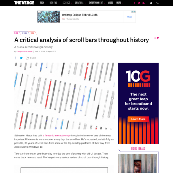 A critical analysis of scroll bars throughout history