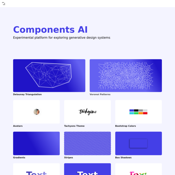 Components AI - A new way to explore generative design systems