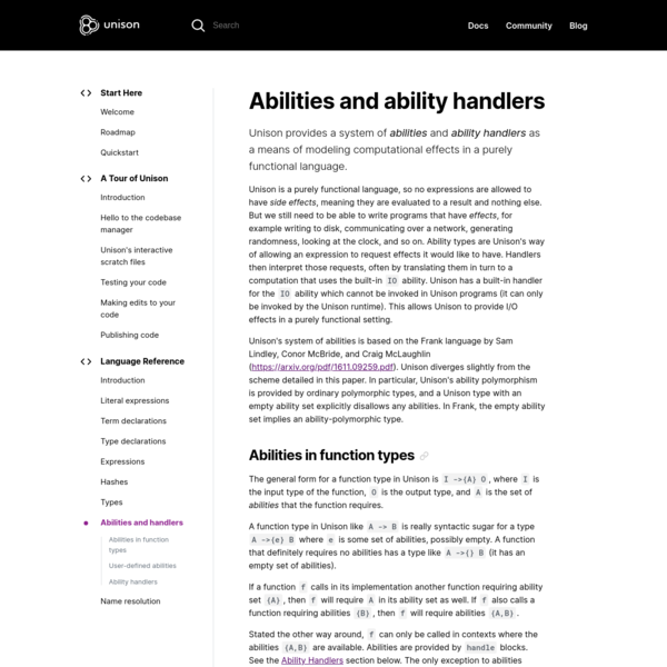 Abilities and ability handlers