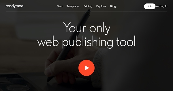 Readymag is an online drag & drop editor which helps creative professionals to easily create microsites, portfolios, presentations, digital magazines and more.