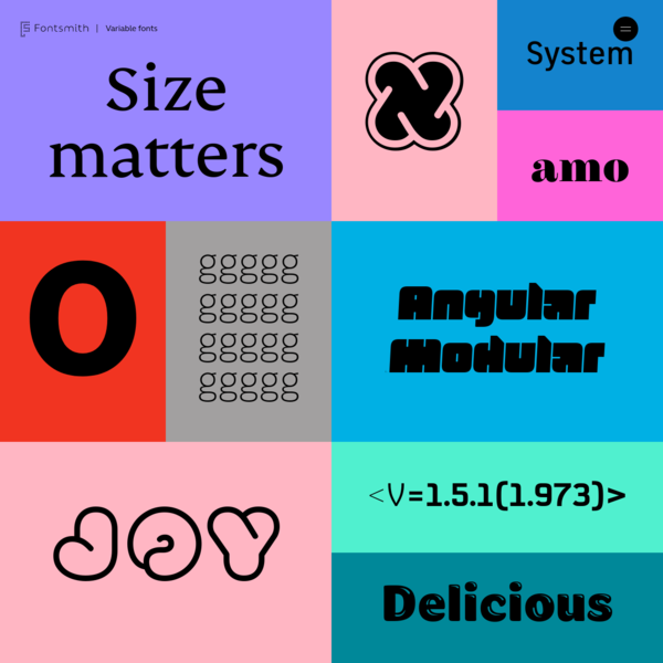 Fontsmith Variable Fonts | Interactive Microsite