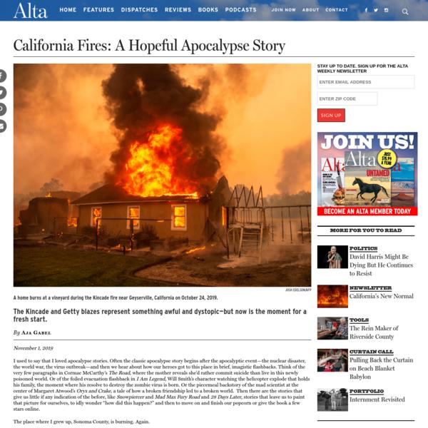 California Fires: A Hopeful Apocalypse Story