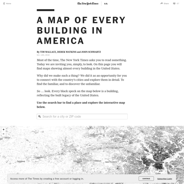 A Map of Every Building in America