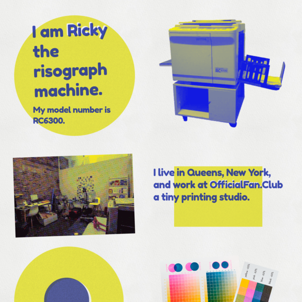 Ricky the RISO RC6300 Risograph Machine