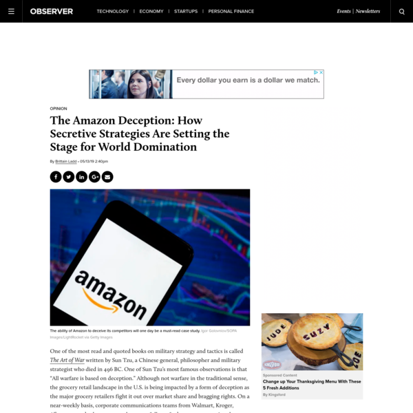 The Amazon Deception: How Secretive Strategies Are Setting the Stage for World Domination