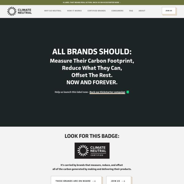 Climate Neutral | Measure, Reduce & Offset Your Carbon