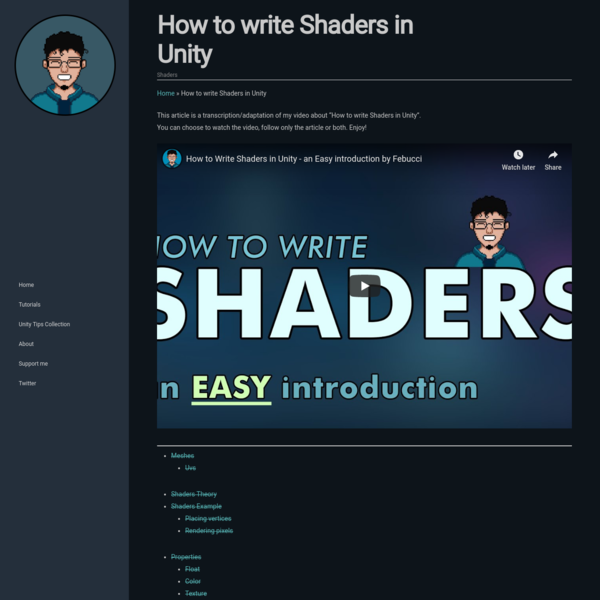 How to write Shaders in Unity - EASY Introduction - Febucci