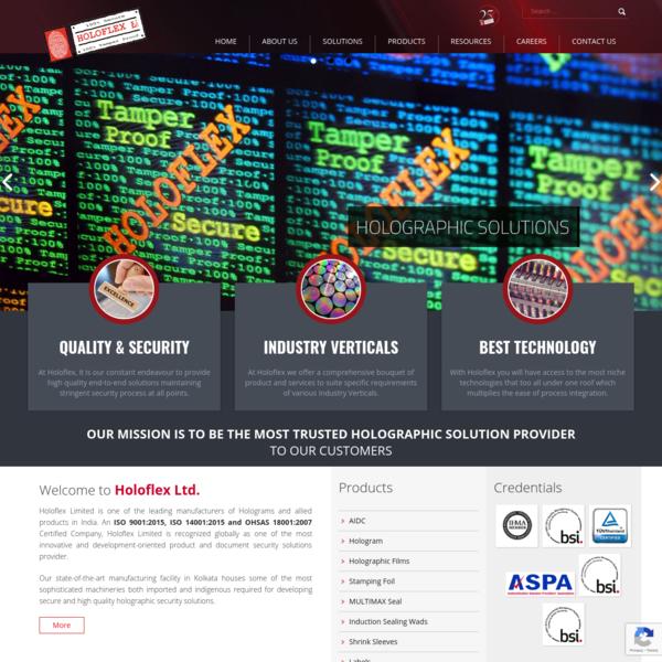Hologram Manufacturer, Hologram Supplier, Holographic Security Solutions