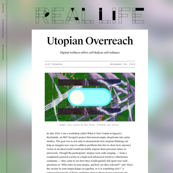 Utopian Overreach - Real Life