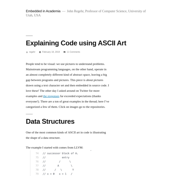 Explaining Code using ASCII Art