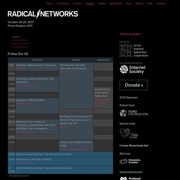 Radical Networks 2019