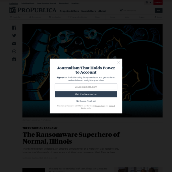 The Ransomware Superhero of Normal, Illinois - ProPublica