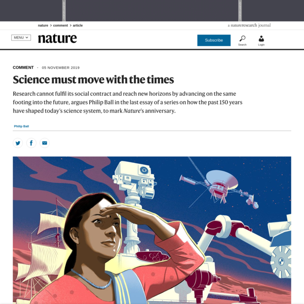 Science must move with the times