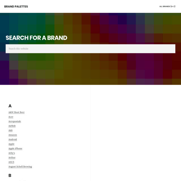 Brand Palettes - Logo Color Codes and Palettes
