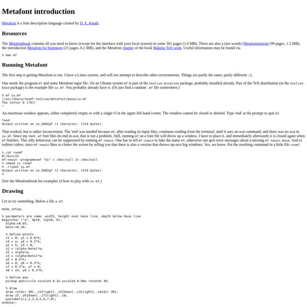 Metafont examples