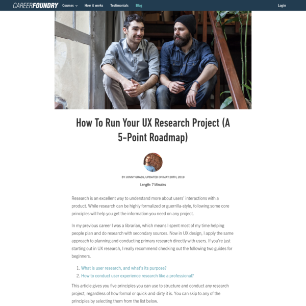 How To Run Your UX Research Project (A 5-Point Roadmap)