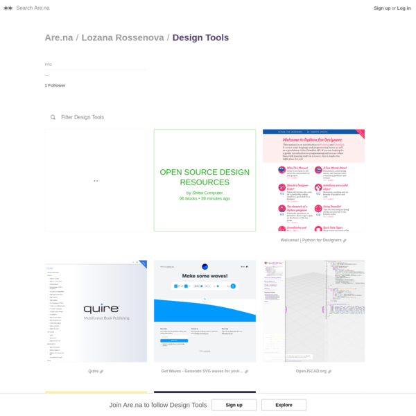 Are.na / Design Tools