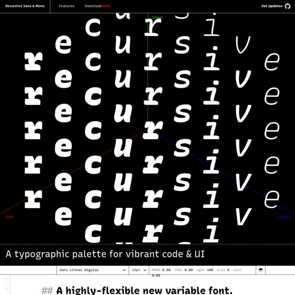 Recursive Sans & Mono