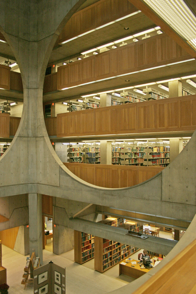 Interior of Phillips Exeter Academy Library, Exeter, New Hampshire (1965–1972)