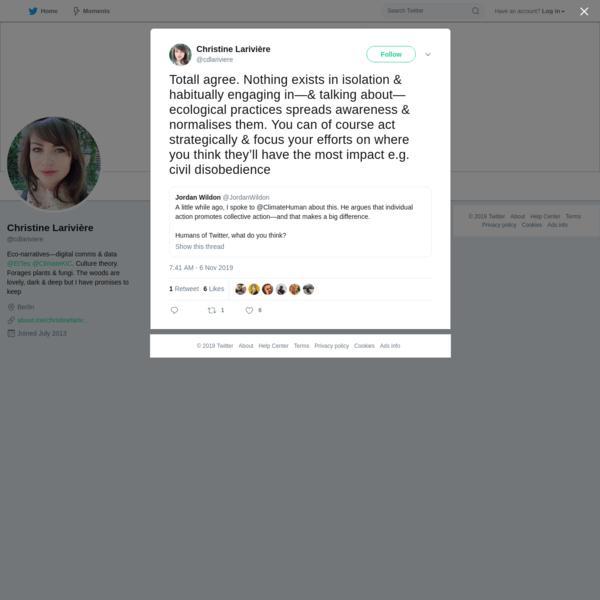 Christine Larivière on Twitter