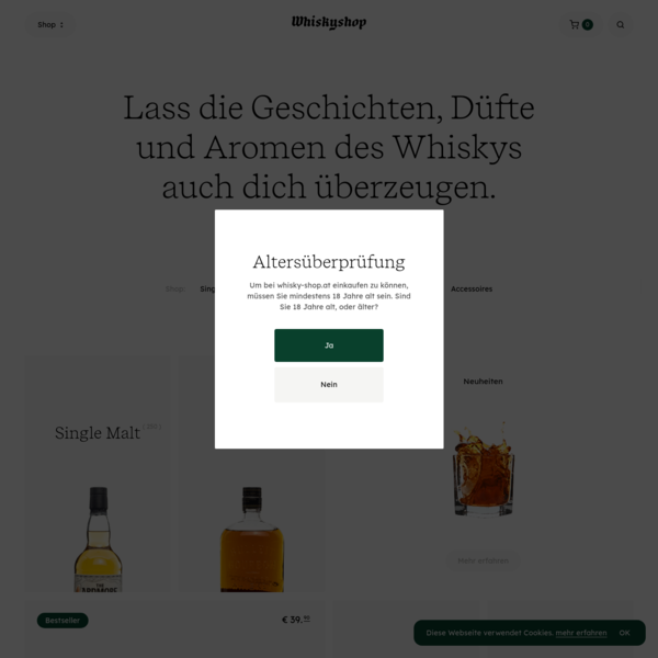 whisky-shop.at - Deine Single Malt Experte