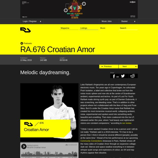 Croatian Amor : Deconstructed Ambient