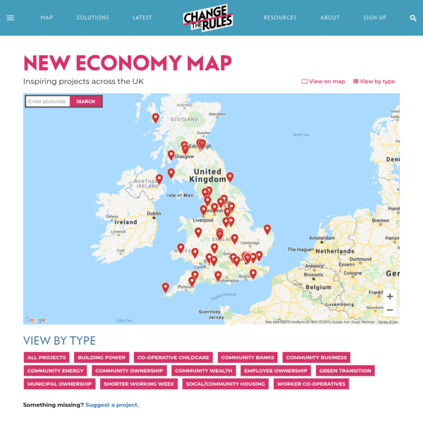 New economy map | Change The Rules