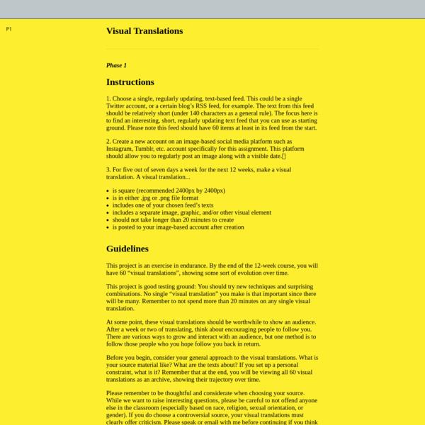 Visual Translations