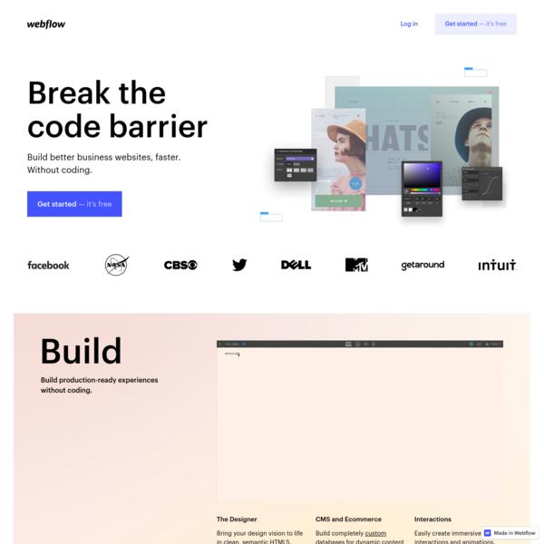 Responsive web design tool, CMS, and hosting platform | Webflow