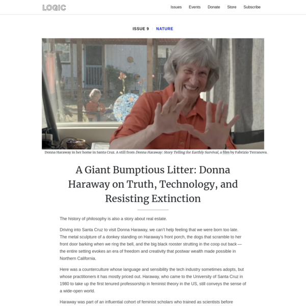 A Giant Bumptious Litter: Donna Haraway on Truth, Technology, and Resisting Extinction