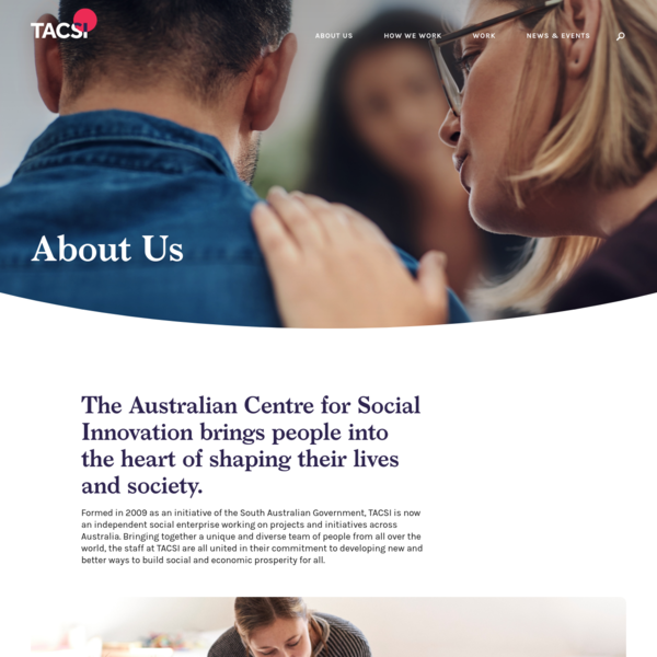 About Us | The Australian Centre for Social Innovation