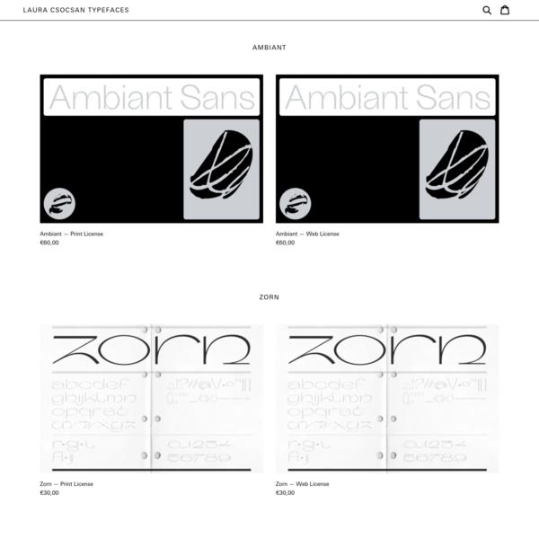 Laura Csocsan Typefaces