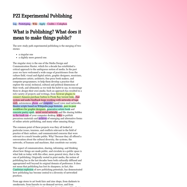 PZI Experimental Publishing