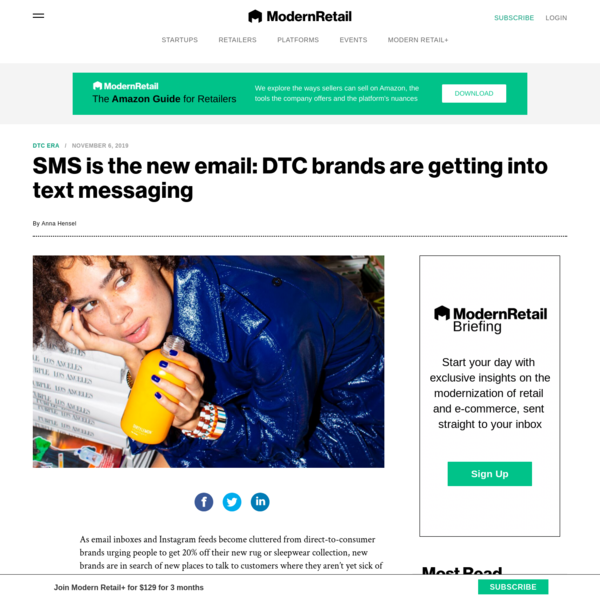 SMS is the new email: DTC brands are getting into text messaging | Modern Retail