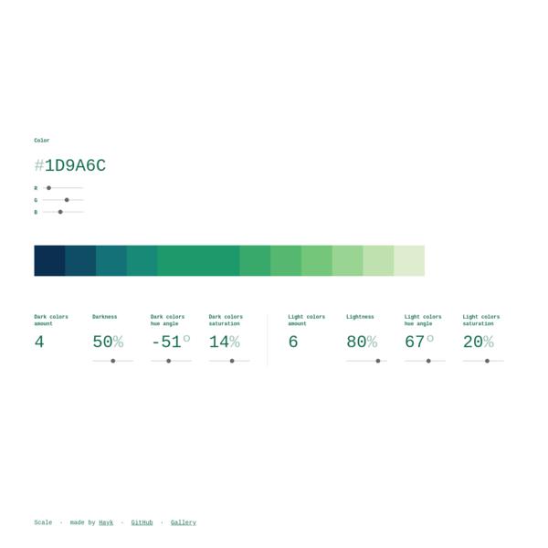 Scale - color scale generator