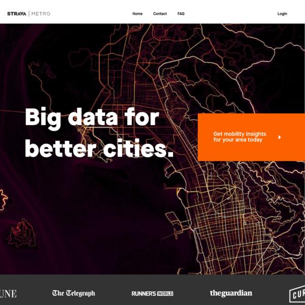 Strava Metro | Creating better cities by using big data