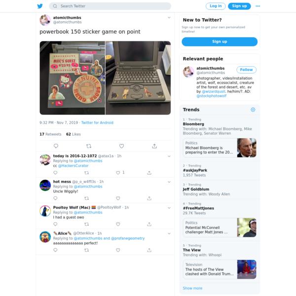 atomicthumbs on Twitter