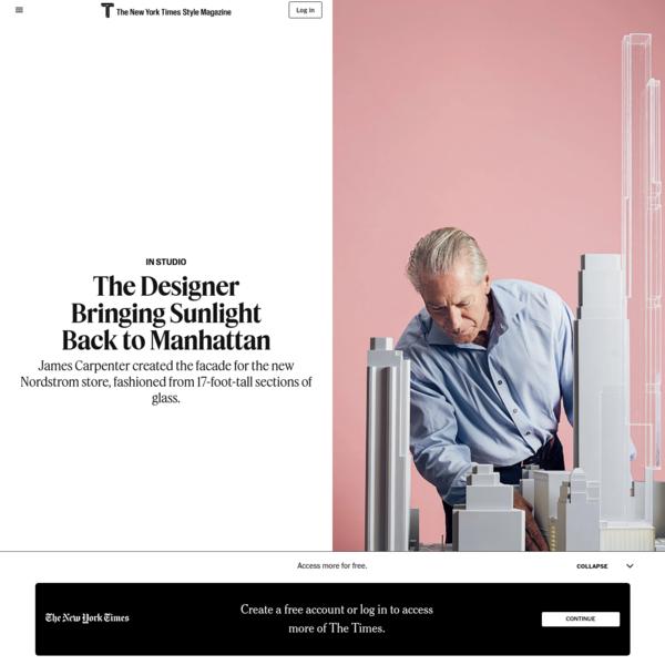 The Designer Bringing Sunlight Back to Manhattan - The New York Times