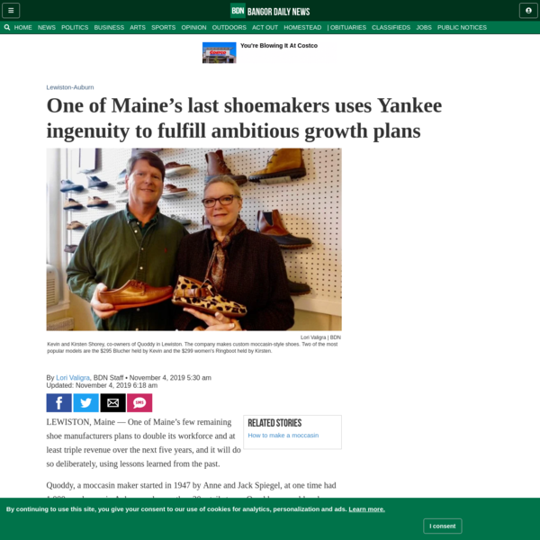 One of Maine's last shoemakers uses Yankee ingenuity to fulfill ambitious growth plans