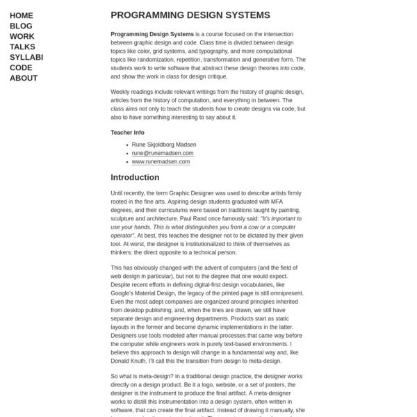 Programming Design Systems