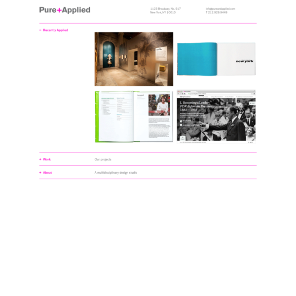 Pure+Applied | Pure+Applied design studio