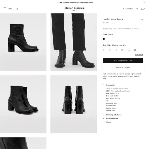 Maison Margiela Leather Ankle Boots Men | Maison Margiela Store