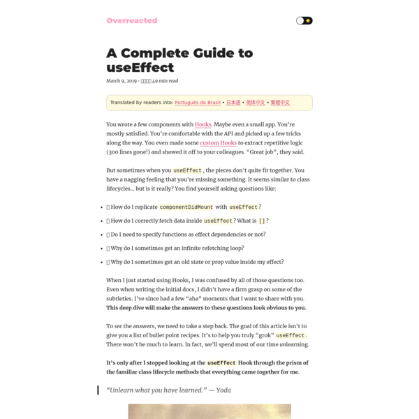 A Complete Guide to useEffect