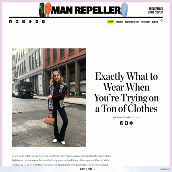 Exactly What to Wear When You're Trying on a Ton of Clothes - Man Repeller