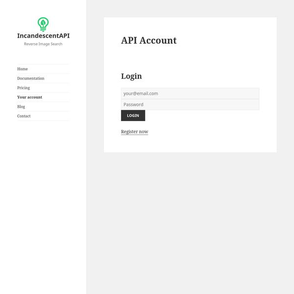 Account - IncandescentAPI