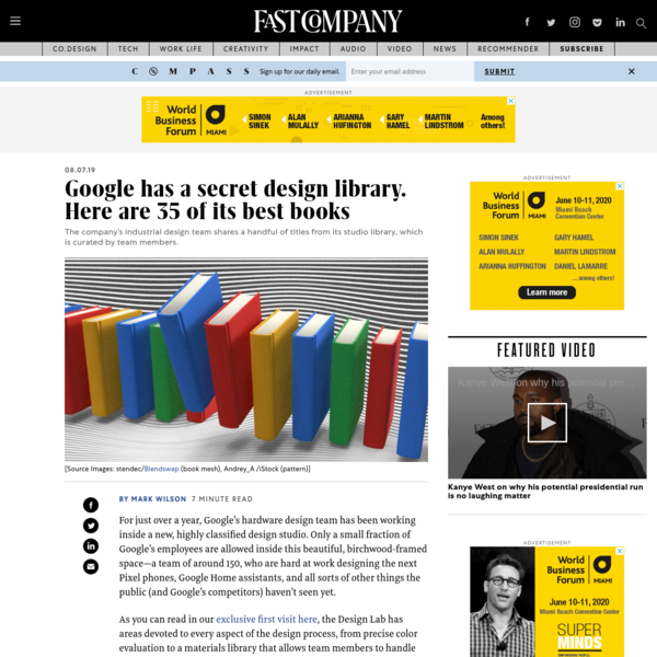 Google has a secret design library. Here are 35 of its best books