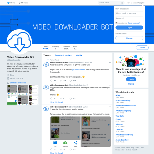 Video Downloader Bot